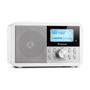 Worldwide Mini Internet Radio WIFI Network Player USB MP3 AUX FM-Tuner  White
