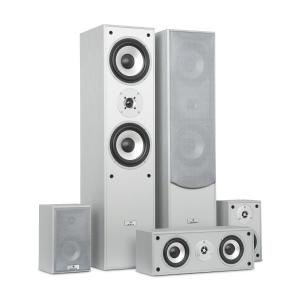 Surround Conjunto de Caixas de Altifalante Home Theater 335 RMS prata