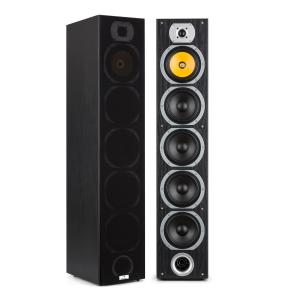 V7B 4-way Bass Reflex Tower Speakers 440W Detachable Front Panel Black Black