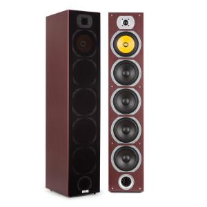 V7B 4-way Bass Reflex Tower Speakers 440W Detachable Front Panel Mahogany Mahogany