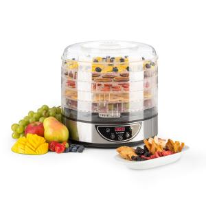 Fruitower D Dehydrator 35-70°C Timer 5 Trays 200-240Wbrushed stainless steel chassis 5 stages / timer