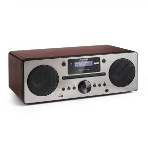 Harvard Micro System DAB + FM Tuner CD Player USB Charger Walnut Walnut