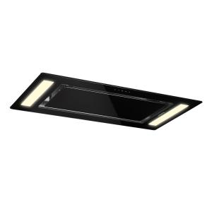 Remy Hotte de plafond type îlot 90cm classe A 620m³/h LED verre Noir | no_replacement_filter