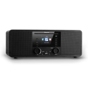 IR-190 Radio internet Bluetooth Lecteur CD WiFi UPnP USB MP3 AUX - noir Noir