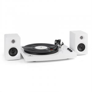 "TT-Play Turntable 2 Stereo Speakers (3""/10W) BT 33 1/3 & 45 rpm White White"