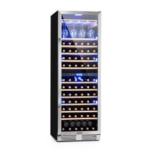 Vinovilla Grande Duo suuri viinijääkaappi 425l 165 pulloa 3 väriä lasi 425 Ltr | 2 jäähdytysvyöhykettä