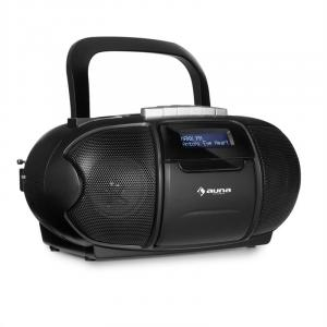 BeeBoy DAB Boombox Cassette Player USB CD MP3 Black Black