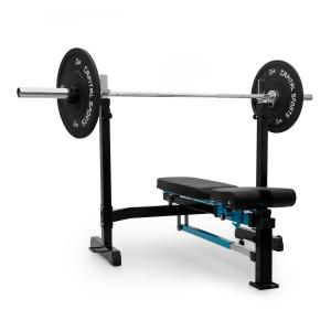 Benchex Banc de musculation incliné & plat charge 250kg - bleu