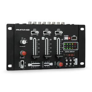 DJ-21Mixer mesa de mezclas USB negro