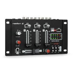 DJ-21 DJ-Mixer mesa de mezclas Bluetooth USB negro
