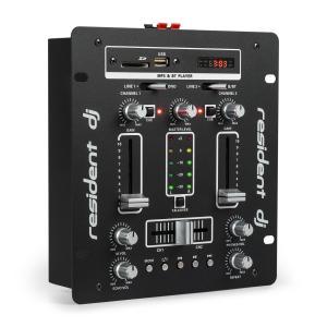 DJ-25 DJ-Mixer mesa de mezclas amplificador Bluetooth USB negro/blanco Negro