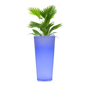 Starflower Pot de fleurs cache-pot LED résistant aux UV - carré
