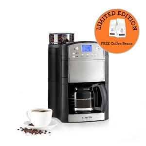 Aromatica Coffee Machine Grinder 10 Cups Glass Jug Aroma + Stainless Steel Brushed stainless steel | Glass can