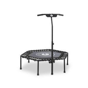 """Jumpanatic fitnesstrampoline 44"""" / 112 cm Ø grijpstangen klapbaar zwart Zwart"""