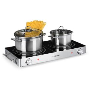 VariCook Duo Hot Plate 3000W Stainless Steel Handles Silver Silver