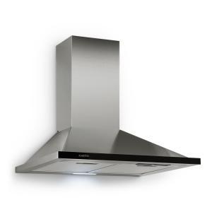 Galina afzuigkap afvoersysteem 60 cm 350 m³/h LED rvs acrylglas