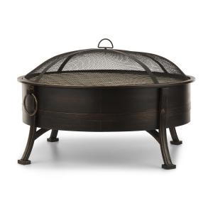 Catania 2-in-1 Fire Bowl Ø80cm Spark Protection Ø70cm Grill Steel Antique