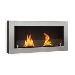 Phantasma Modern Ethanol Fireplace 3 hours Burning Time silver