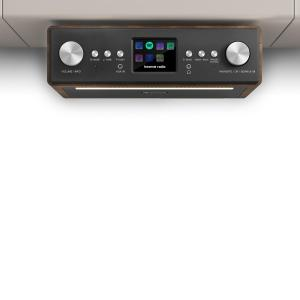 "Connect Soundchef Radio encastrable Internet DAB+ FM enceintes 3"" marron Noyer 