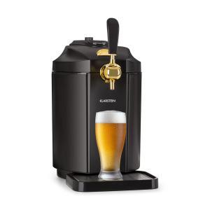 Skal Tirador de cerveza Grifo de cerveza 5L Dispensador de cerveza CO2 Acero inoxidable negro Negro