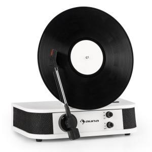 Verticalo S Retro Design Turntable Vertical Record Player USB White White