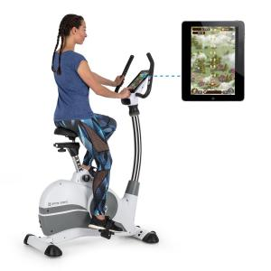 Arcadion Exercise Bike Heart Rate Monitor Bluetooth Handlebar Holder White White