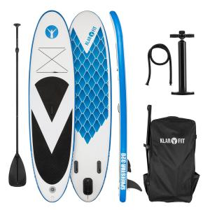 Spreestar 320 aufblasbares Paddelboard SUP-Board-Set 320x12x81 blau-weiß Weiß