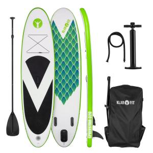 Spreestar 320 Tabla de paddle surf hinchable SUP-Board-Set 320x12x81 verde Verde