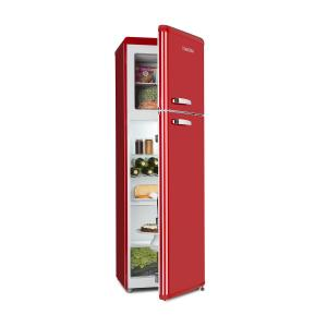 Audrey Retro Fridge-Freezer Combination 194/56 Liter A++ red Red