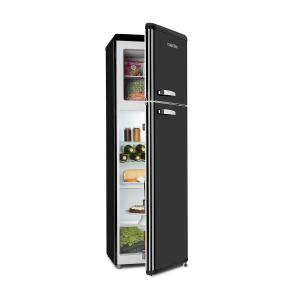Audrey Retro Fridge-Freezer Combination 194/56 Liter A++ black Black