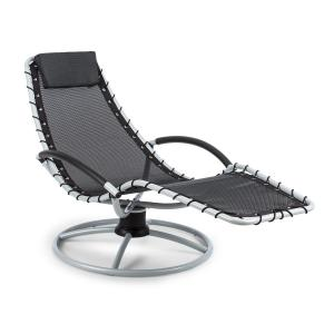The Chiller Chaise longue à bascule 77 x 85x 173cm - noir Noir