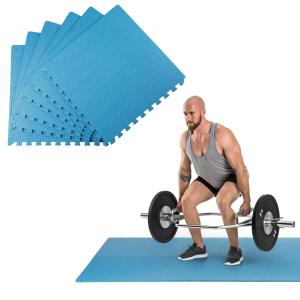 Puzzta Bodenmatten 6 Stück EVA-Schaum 12 Randstücke MemorySafe blau