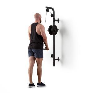 Stronghold trekstang wandinstallatie 100kg 2.5m krachttrainingsstang voor uw triceps zwart Zwart