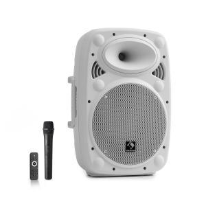 """Streetstar 10 przenośny zestaw PA 10"""" (25,5 cm) mikrofon UHF maks. 400 W biały Biały   400 W"""