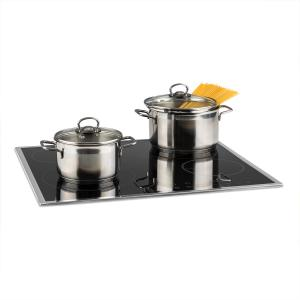 Virtuosa Slide Hob 4 zones 6600W Glass Ceramic Stainless Steel