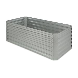 High Grow Straight Raised Flower Bed Garden Bed 180x60x90cm 970l Steel Galvanized Silver Silver