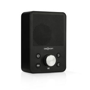 Plug + Play FM Radio, FM tuner, USB, BT, black Black