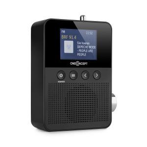 Plug+Play DAB pistokeradio, DAB+/FM, BT, TFT-näyttö, musta musta