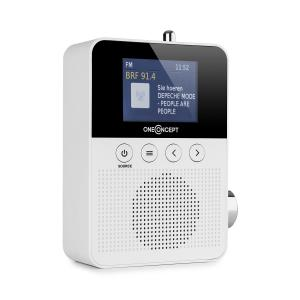 Plug + Play DAB Socket Radio, DAB + / FM, BT, TFT Display, White White