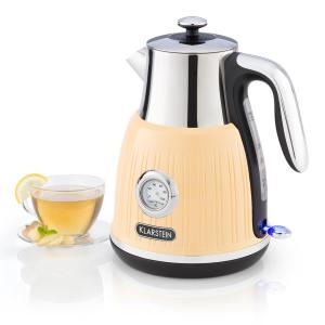 Cancan waterkoker 1,6L 1800-2500W retro design 360° basis crème Crème