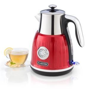 Cancan Kettle 1.6L 1800-2150W Retro Design 360° Device Base Red Red
