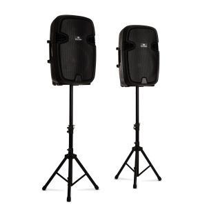 Combo 2 PA luidsprekerset actief & passief max. 800W bluetooth zwart 800 W
