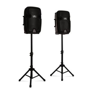 Combo 1 PA luidsprekerset actief & passief max. 700W bluetooth zwart 700 W