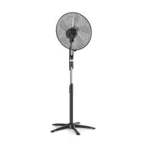 "Summer Vibe Pedestal Fan 16"" 55W 2040m³ / h Oscillation 65 ° Black"