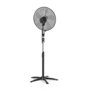 "Summer Vibe Stand Fan 16"" 55W 2040m³ / h Oscillation 65 ° Black"