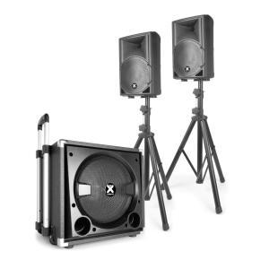 """VX840BT 2.1 Aktiv-Lautsprecherset 15"""" Subwoofer 2x8"""" Lautsprecher 900W max"""
