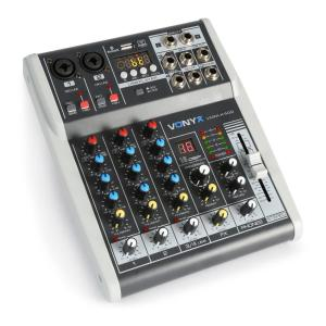 VMM-K402 4-kanaals music mixer Bluetooth USB audio-interface