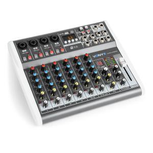 VMM-K802 Mesa de mezclas con 8 canales, puerto USB, Bluetooth, 16 DSP, alimentación fantasma +48 V
