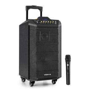 VPS10 sound system 250W USB-/SD-aansluiting bluetooth 12V/4,5Ah accu