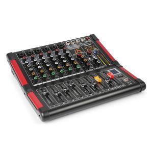 PDM-M604 mikser muzyczny 6 wejść mikrofonowych 24-bitowy procesor Multi FX